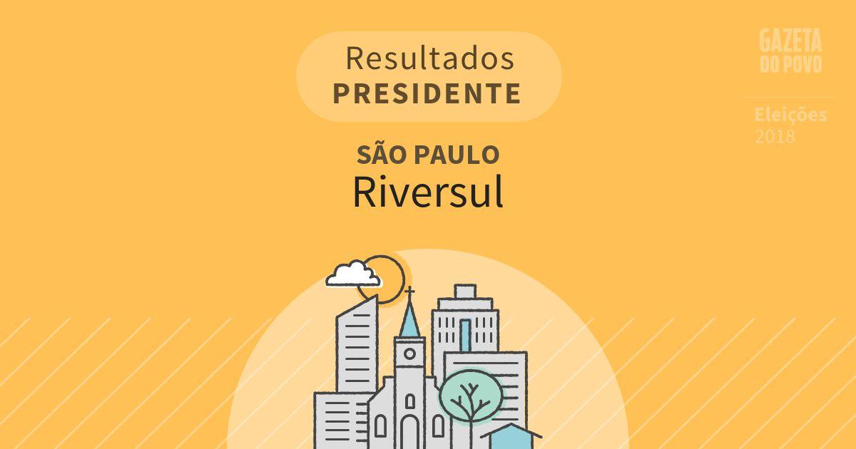 Resultados para Presidente em São Paulo em Riversul (SP)