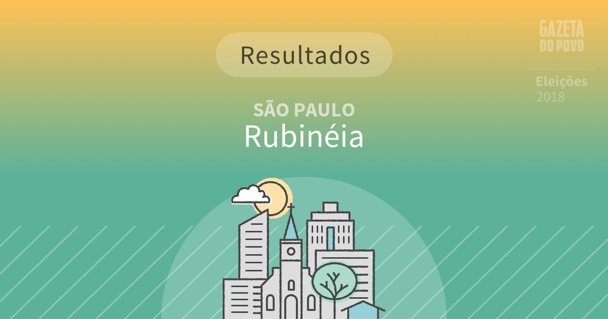 Resultados da votação em Rubinéia (SP)