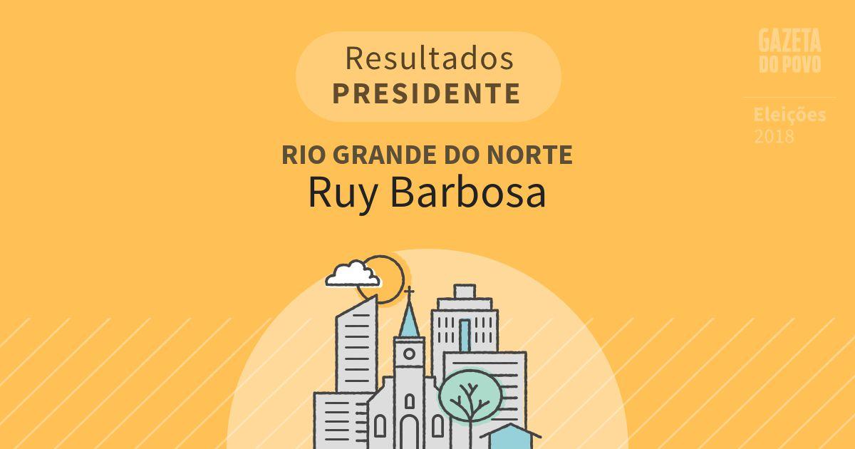 Resultados para Presidente no Rio Grande do Norte em Ruy Barbosa (RN)