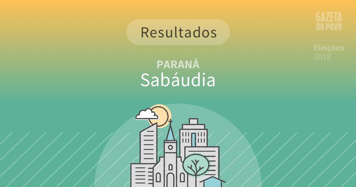 Resultados da votação em Sabáudia (PR)