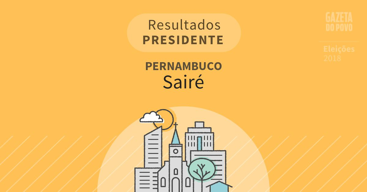 Resultados para Presidente em Pernambuco em Sairé (PE)