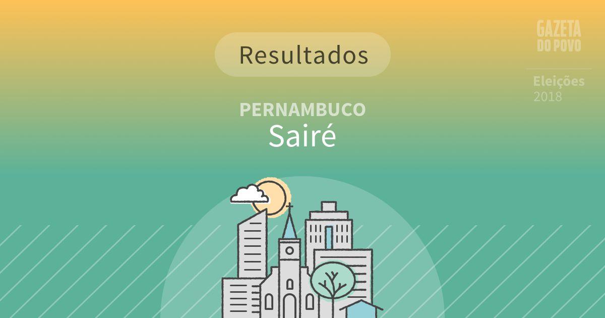 Resultados da votação em Sairé (PE)