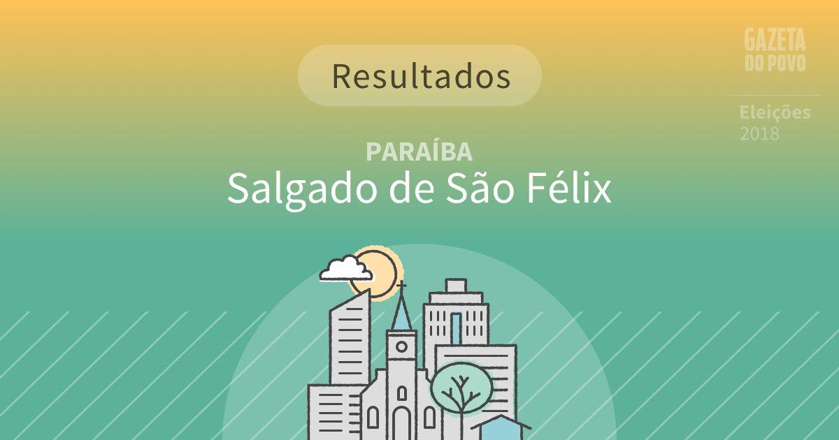 Resultados da votação em Salgado de São Félix (PB)