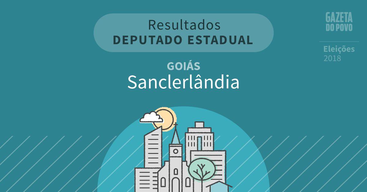 Resultados para Deputado Estadual em Goiás em Sanclerlândia (GO)