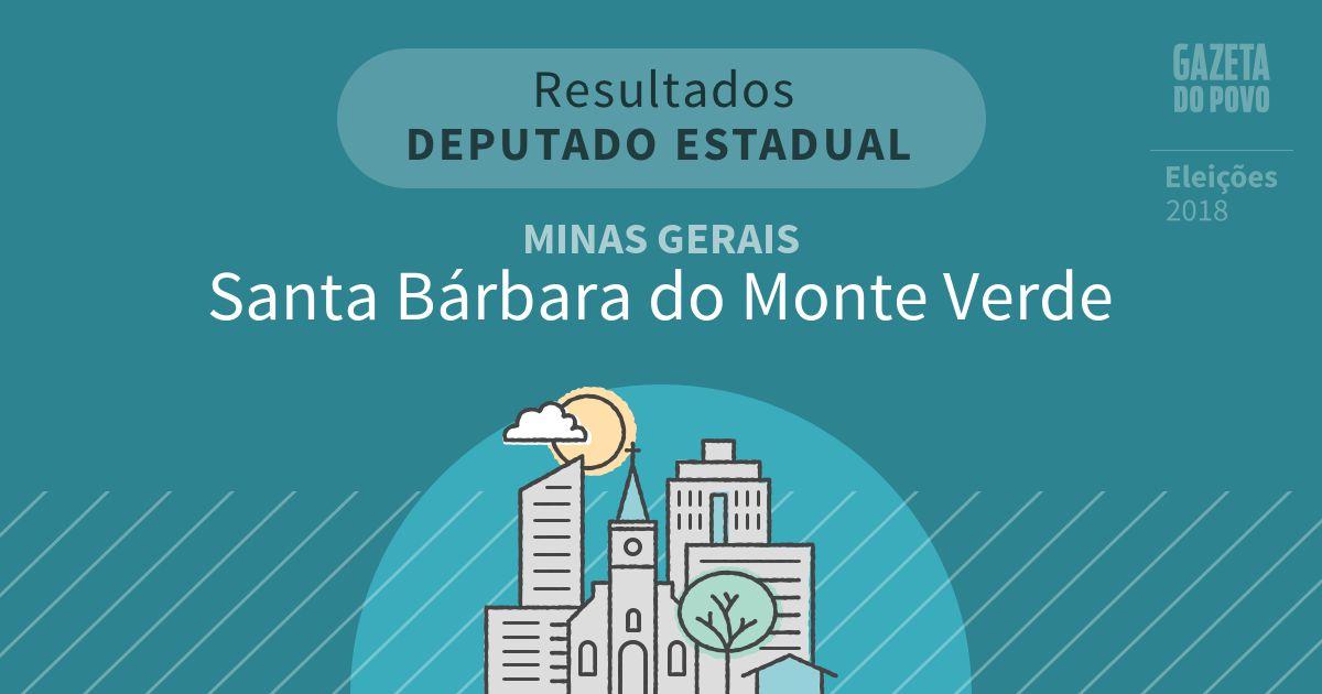 Resultados para Deputado Estadual em Minas Gerais em Santa Bárbara do Monte Verde (MG)