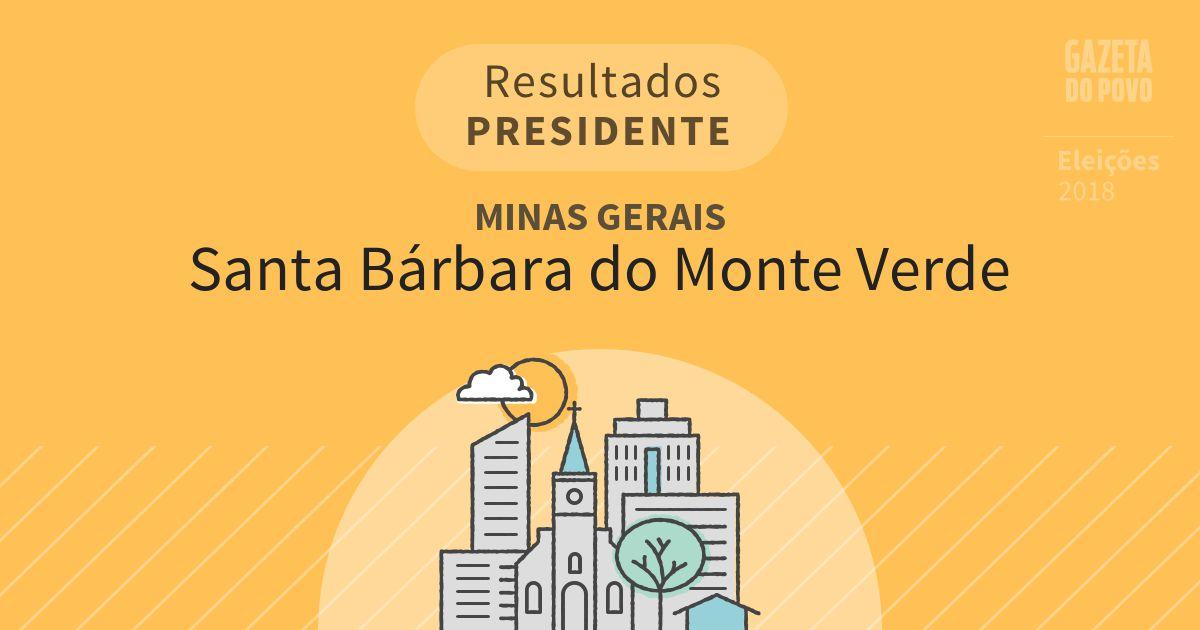 Resultados para Presidente em Minas Gerais em Santa Bárbara do Monte Verde (MG)
