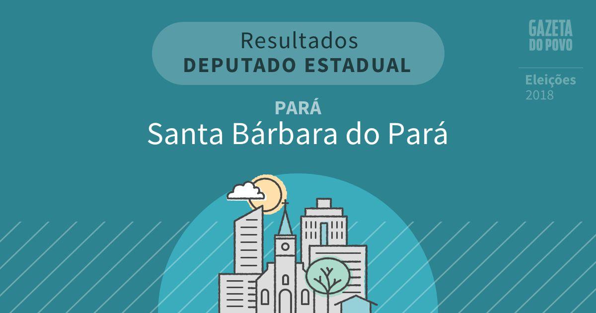 Resultados para Deputado Estadual no Pará em Santa Bárbara do Pará (PA)
