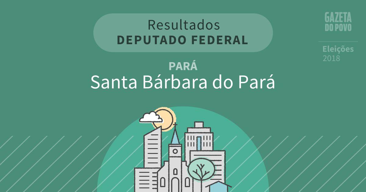 Resultados para Deputado Federal no Pará em Santa Bárbara do Pará (PA)