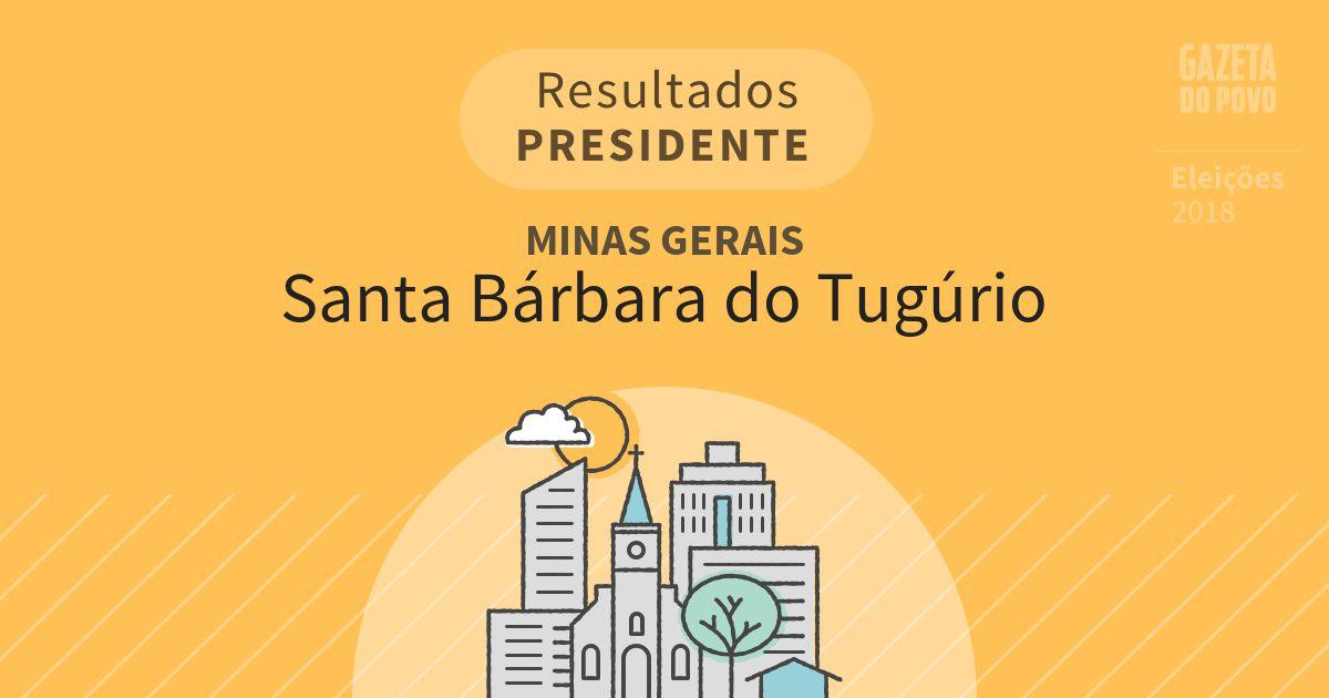 Resultados para Presidente em Minas Gerais em Santa Bárbara do Tugúrio (MG)