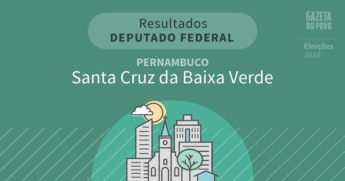 Resultados para Deputado Federal em Pernambuco em Santa Cruz da Baixa Verde (PE)