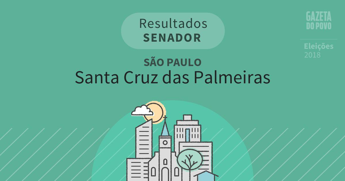 Resultados para Senador em São Paulo em Santa Cruz das Palmeiras (SP)