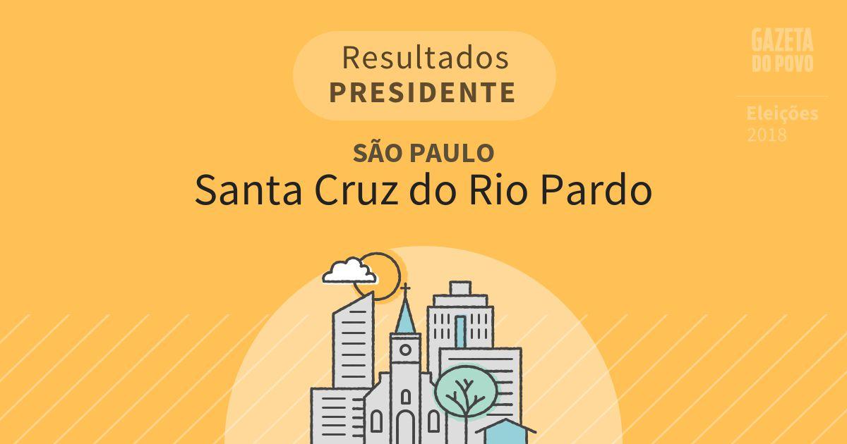 Resultados para Presidente em São Paulo em Santa Cruz do Rio Pardo (SP)