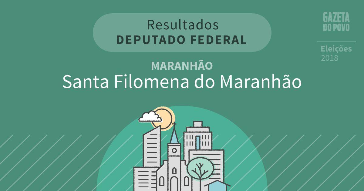 Resultados para Deputado Federal no Maranhão em Santa Filomena do Maranhão (MA)