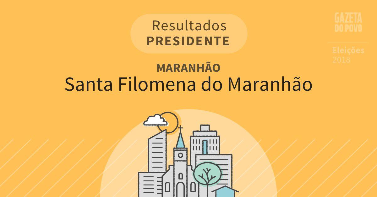 Resultados para Presidente no Maranhão em Santa Filomena do Maranhão (MA)