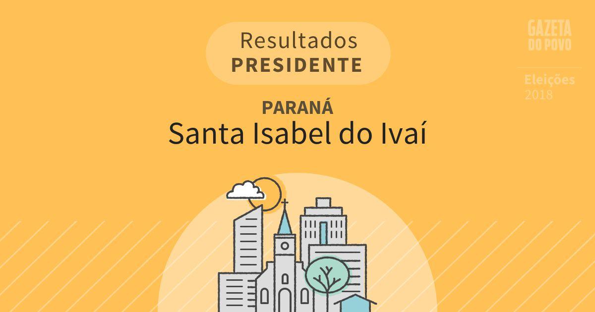 Resultados para Presidente no Paraná em Santa Isabel do Ivaí (PR)