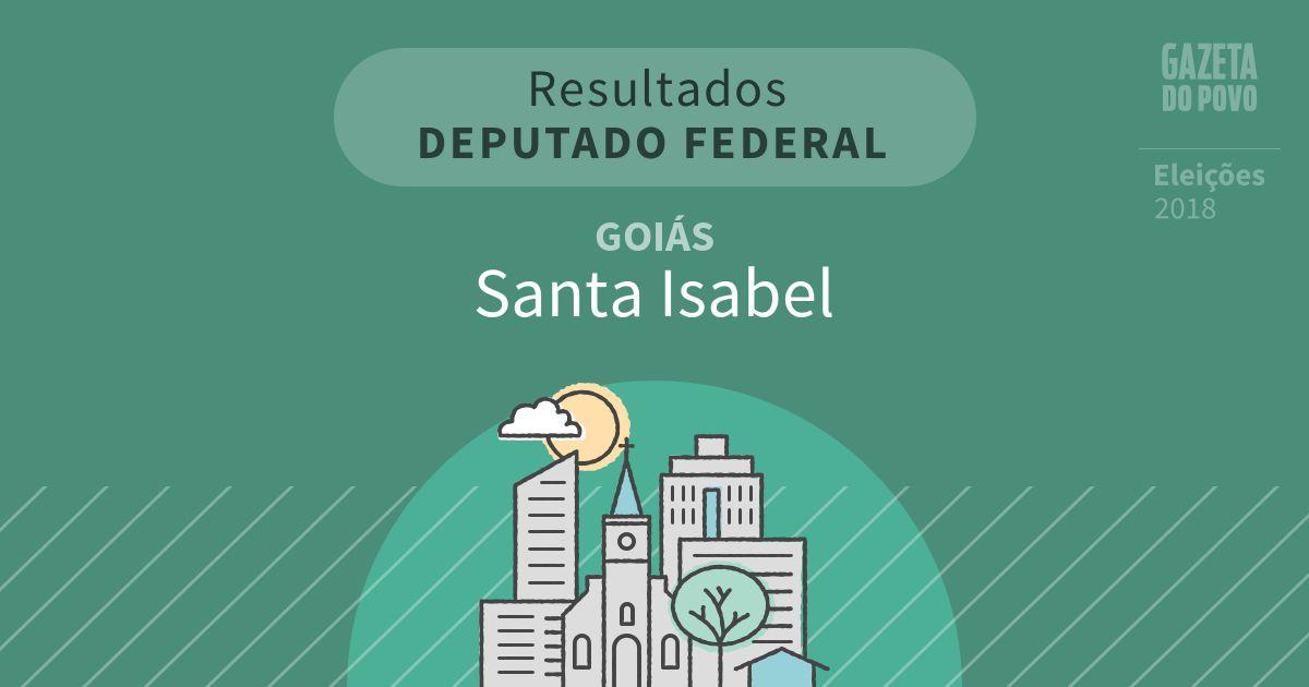 Resultados para Deputado Federal em Goiás em Santa Isabel (GO)