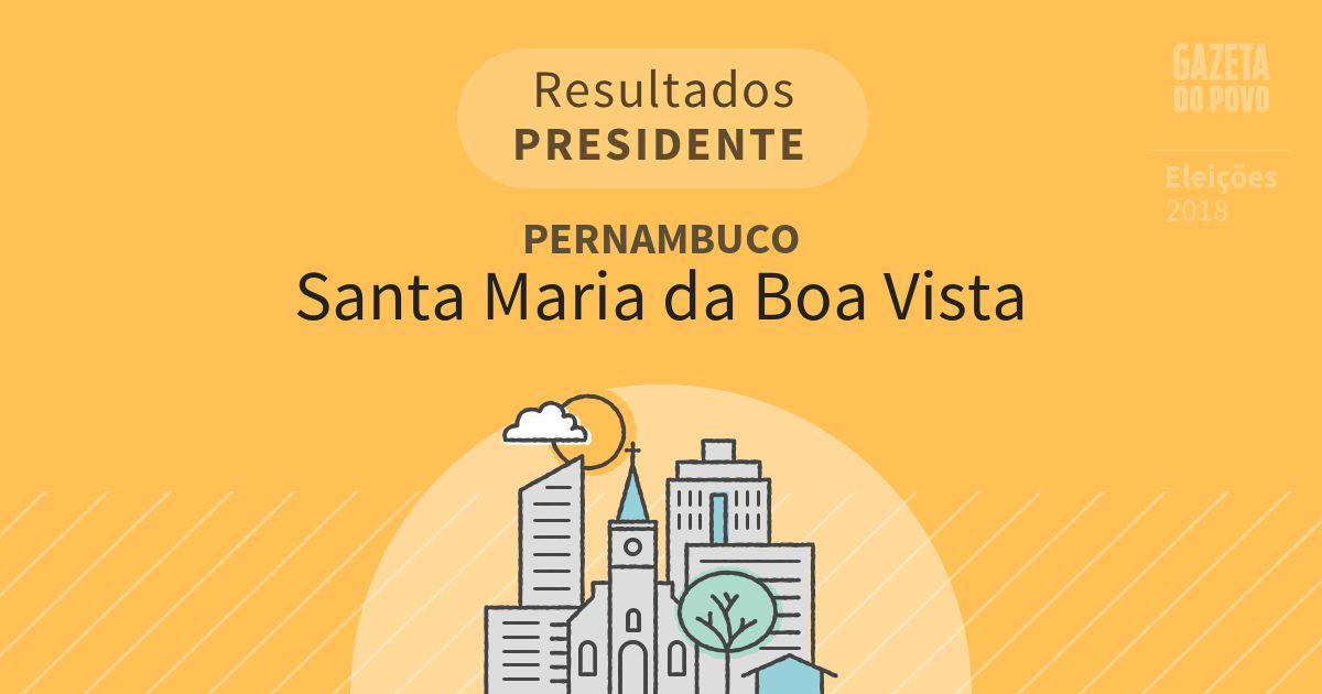 Resultados para Presidente em Pernambuco em Santa Maria da Boa Vista (PE)