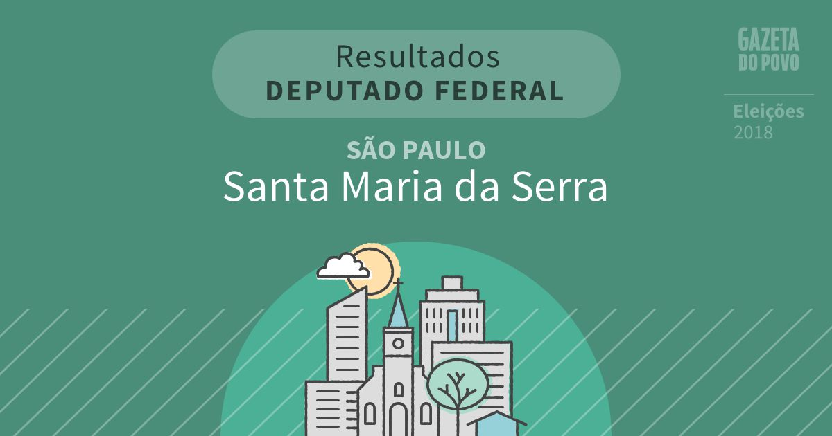 Resultados para Deputado Federal em São Paulo em Santa Maria da Serra (SP)