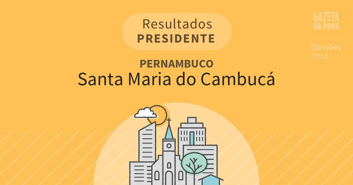 Resultados para Presidente em Pernambuco em Santa Maria do Cambucá (PE)