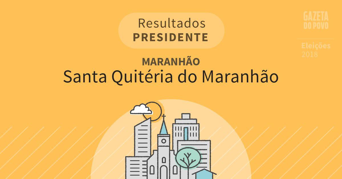 Resultados para Presidente no Maranhão em Santa Quitéria do Maranhão (MA)