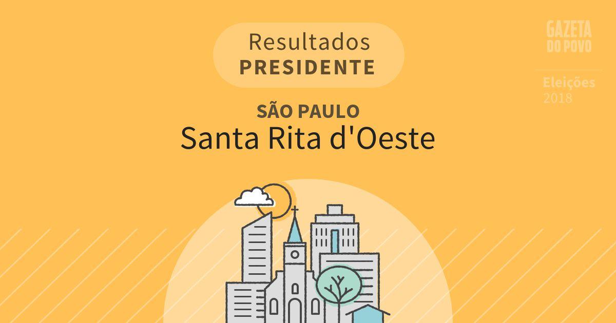 Resultados para Presidente em São Paulo em Santa Rita d'Oeste (SP)