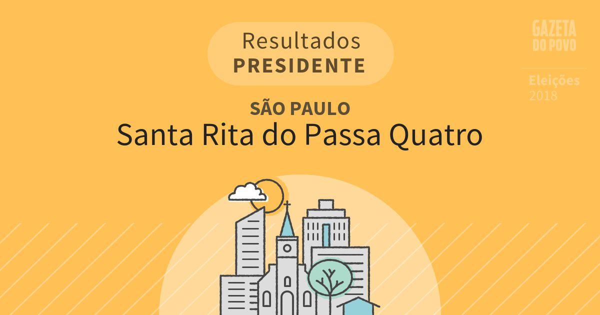 Resultados para Presidente em São Paulo em Santa Rita do Passa Quatro (SP)