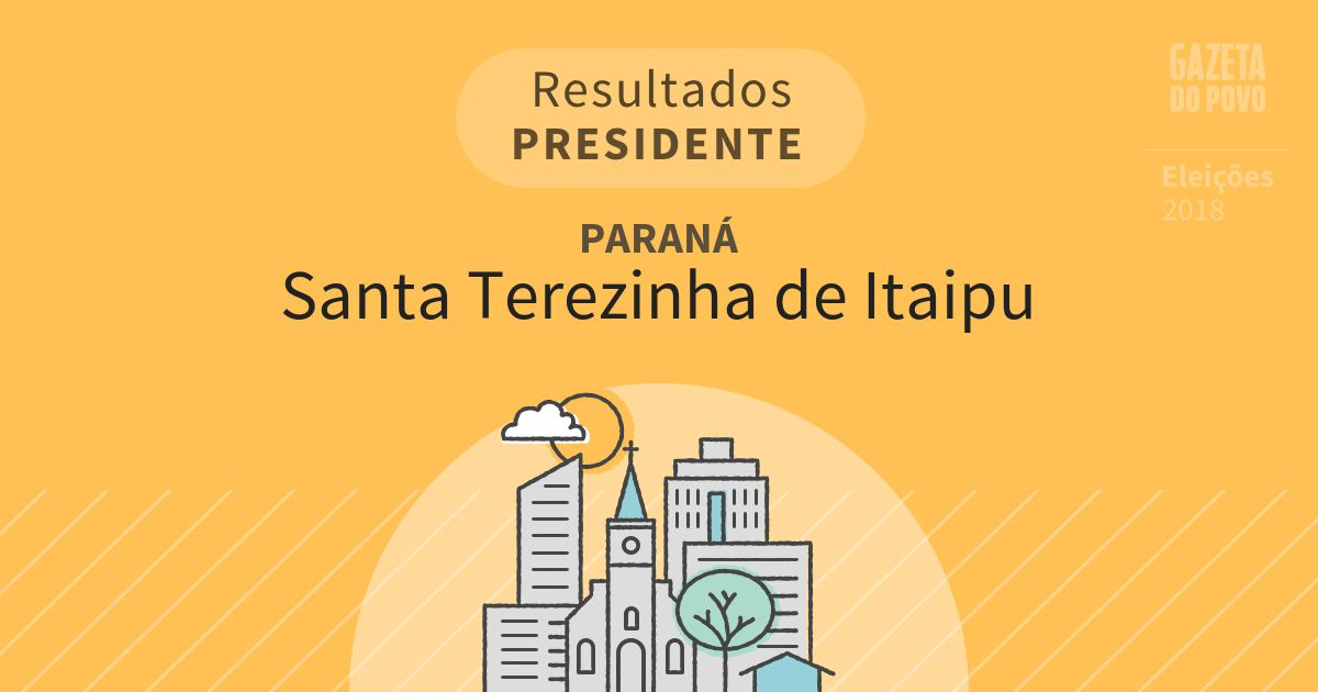 Resultados para Presidente no Paraná em Santa Terezinha de Itaipu (PR)
