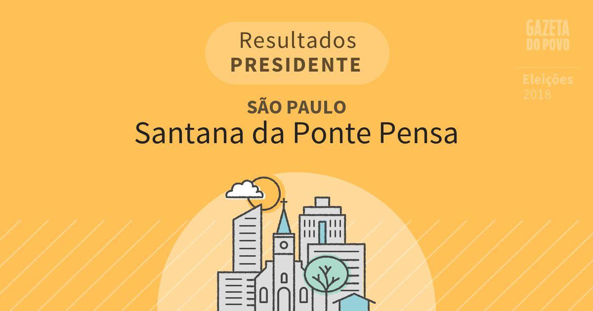 Resultados para Presidente em São Paulo em Santana da Ponte Pensa (SP)