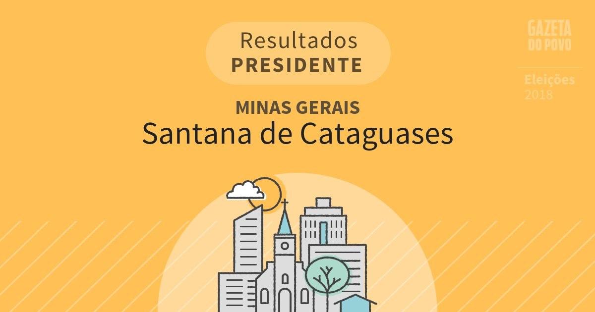 Resultados para Presidente em Minas Gerais em Santana de Cataguases (MG)