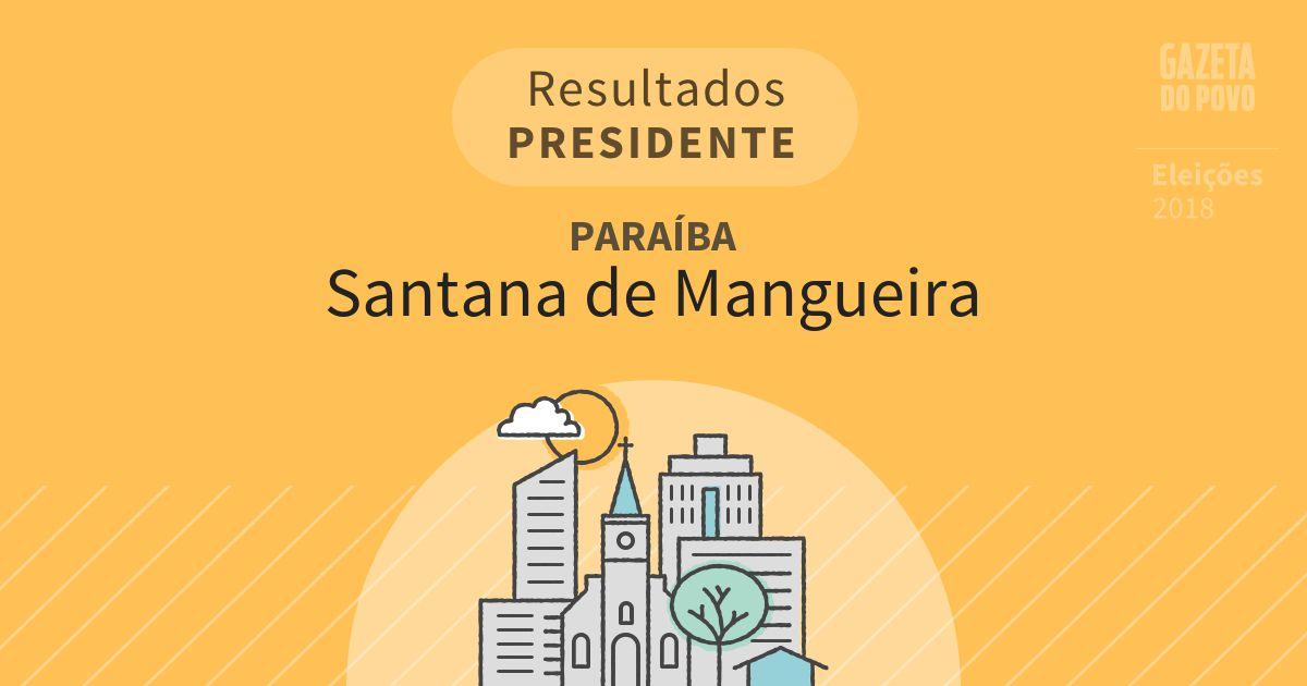 Resultados para Presidente na Paraíba em Santana de Mangueira (PB)