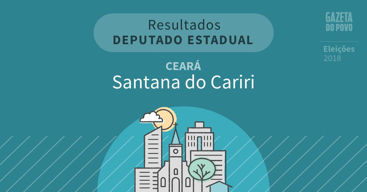 Resultados para Deputado Estadual no Ceará em Santana do Cariri (CE)