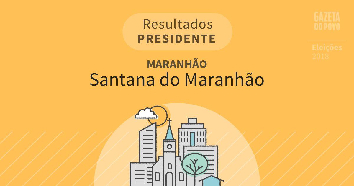 Resultados para Presidente no Maranhão em Santana do Maranhão (MA)