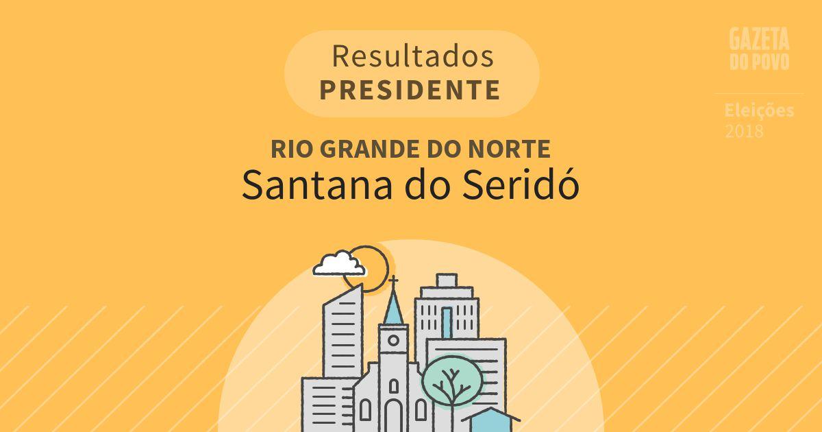 Resultados para Presidente no Rio Grande do Norte em Santana do Seridó (RN)