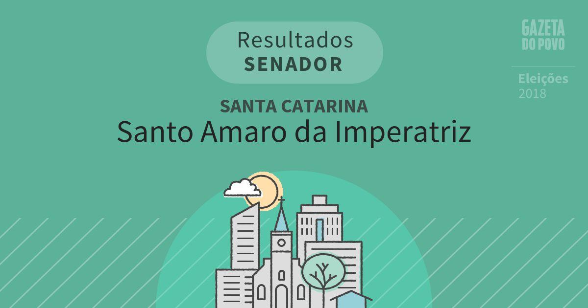 Resultados para Senador em Santa Catarina em Santo Amaro da Imperatriz (SC)