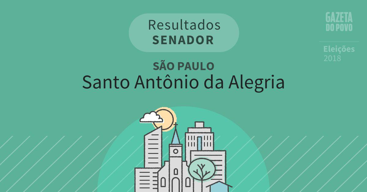 Resultados para Senador em São Paulo em Santo Antônio da Alegria (SP)