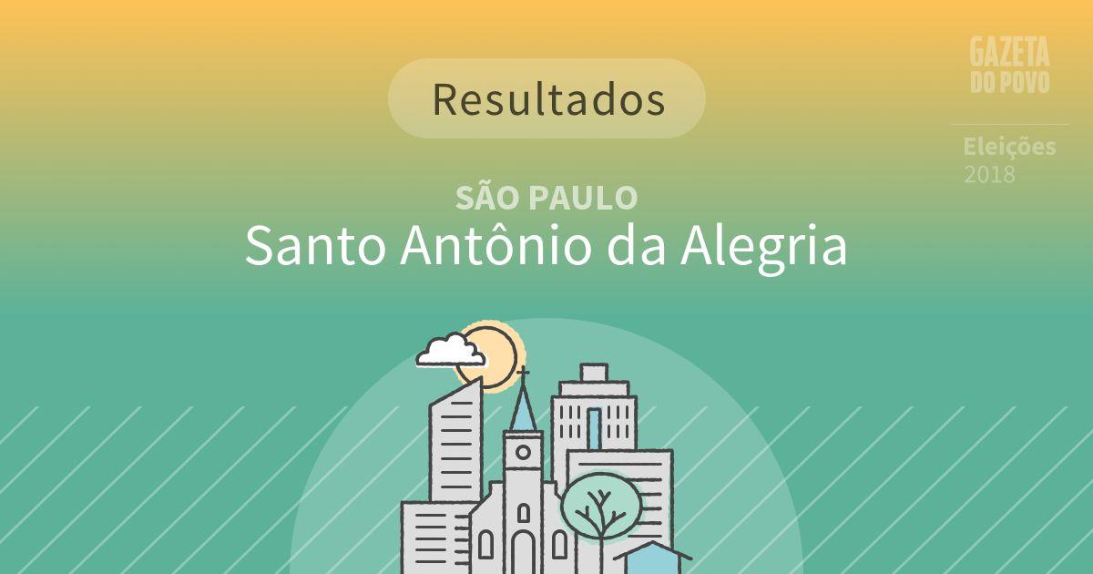 Resultados da votação em Santo Antônio da Alegria (SP)
