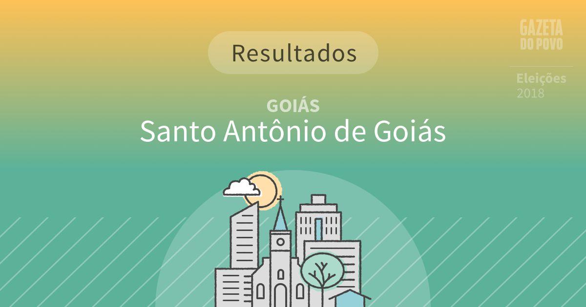 Resultados da votação em Santo Antônio de Goiás (GO)
