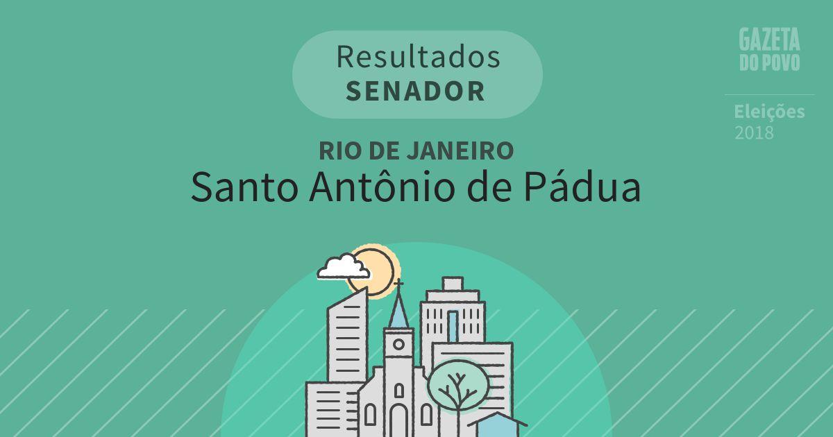 Resultados para Senador no Rio de Janeiro em Santo Antônio de Pádua (RJ)