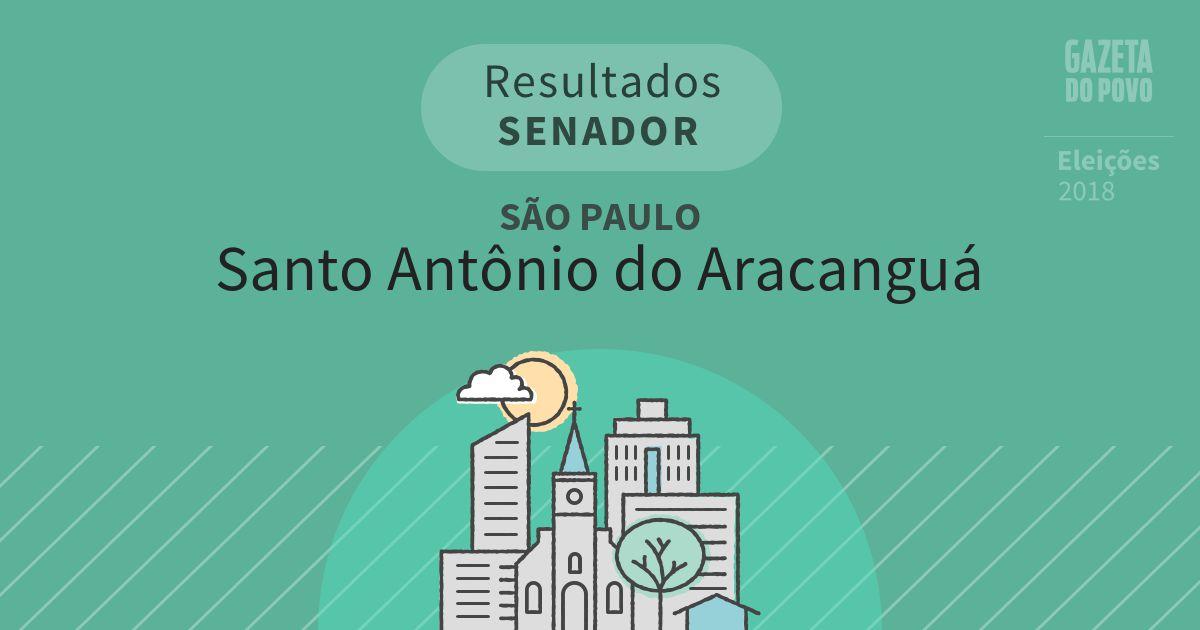 Resultados para Senador em São Paulo em Santo Antônio do Aracanguá (SP)