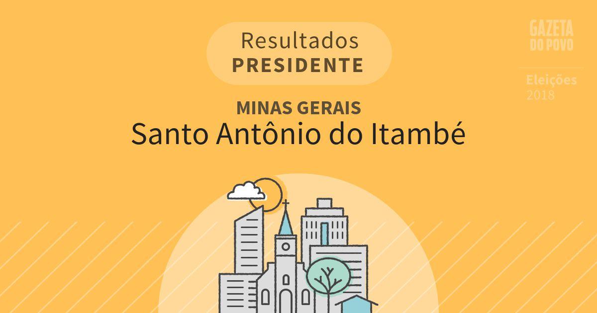 Resultados para Presidente em Minas Gerais em Santo Antônio do Itambé (MG)