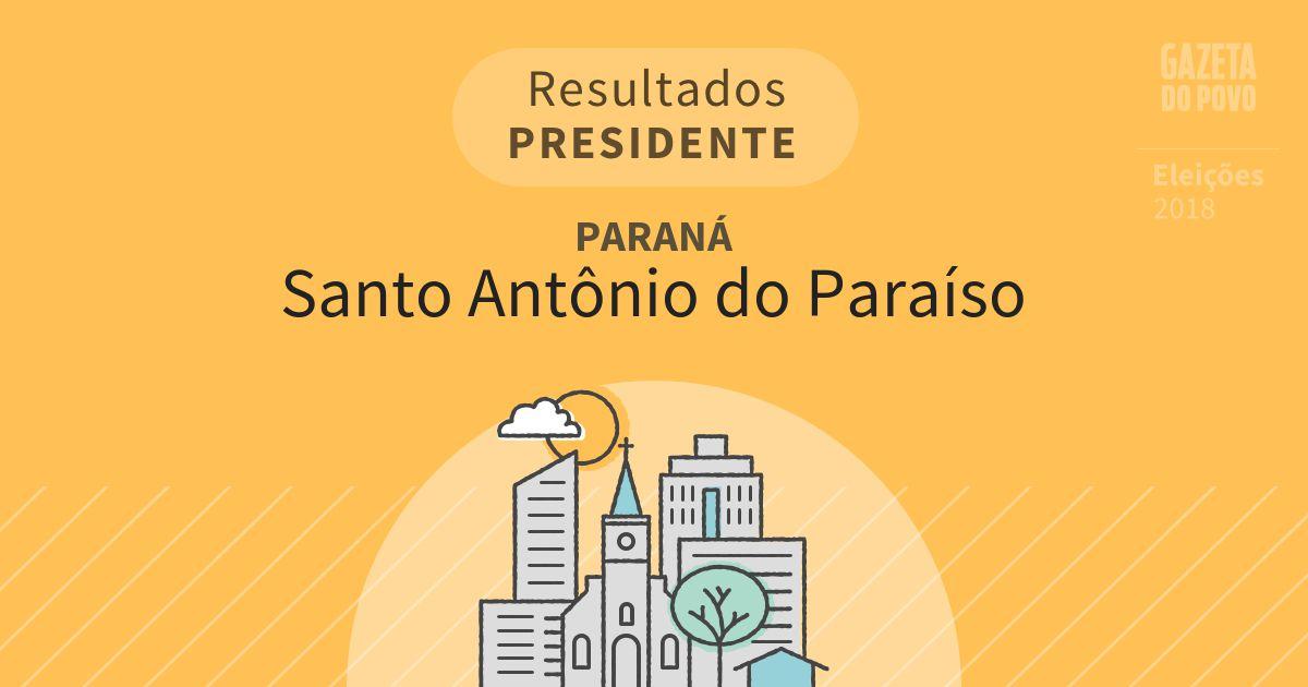 Resultados para Presidente no Paraná em Santo Antônio do Paraíso (PR)