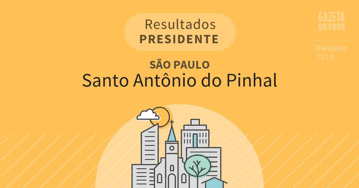 Resultados para Presidente em São Paulo em Santo Antônio do Pinhal (SP)