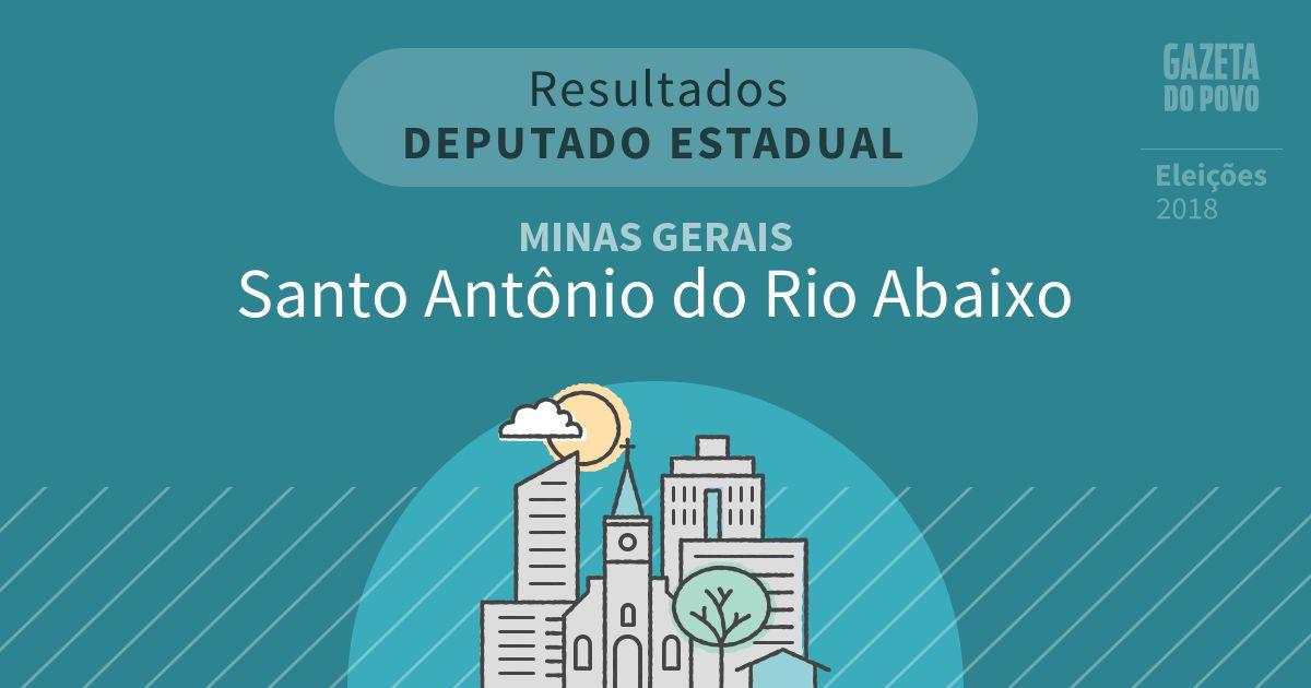 Resultados para Deputado Estadual em Minas Gerais em Santo Antônio do Rio Abaixo (MG)