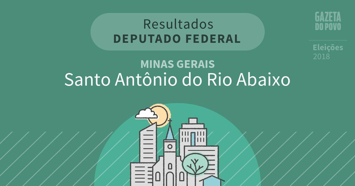 Resultados para Deputado Federal em Minas Gerais em Santo Antônio do Rio Abaixo (MG)