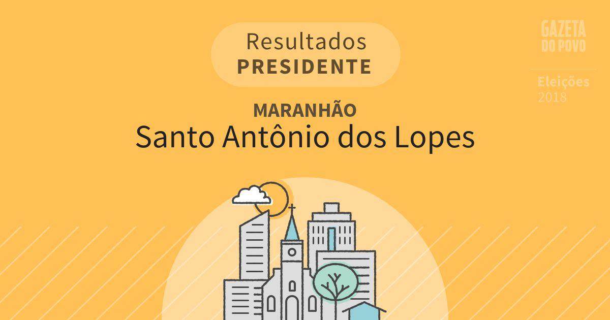 Resultados para Presidente no Maranhão em Santo Antônio dos Lopes (MA)