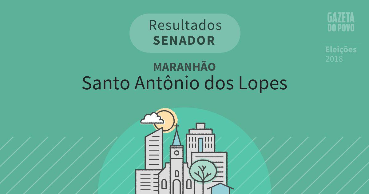 Resultados para Senador no Maranhão em Santo Antônio dos Lopes (MA)