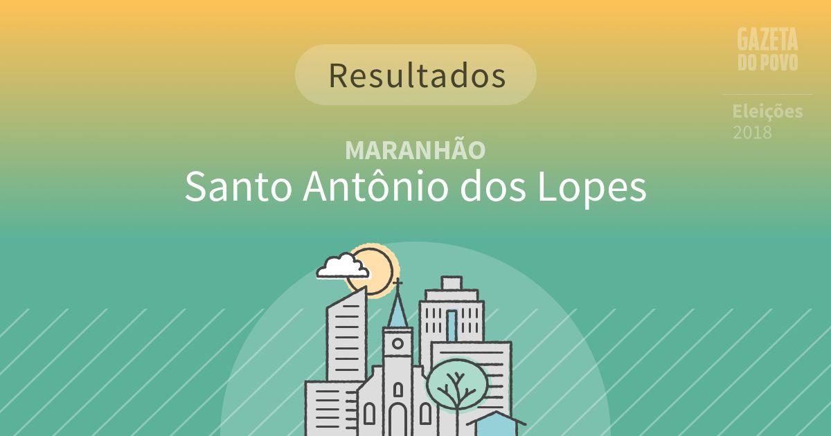 Resultados da votação em Santo Antônio dos Lopes (MA)