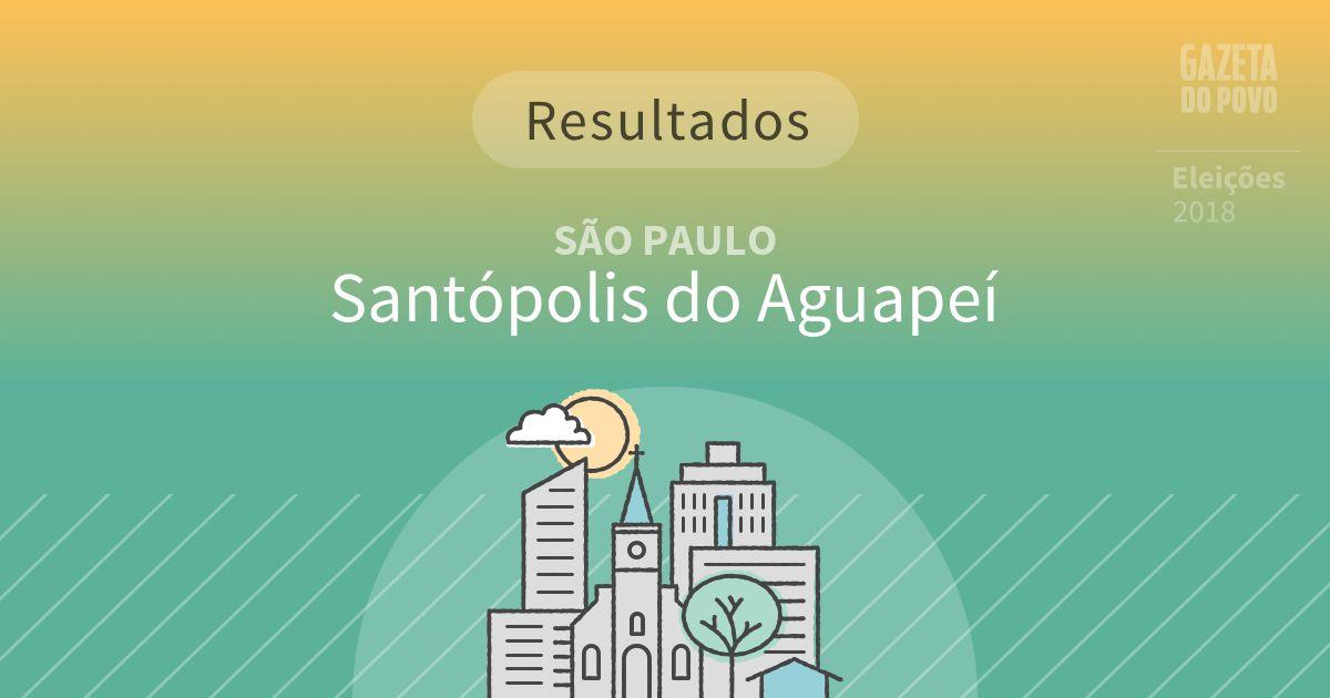 Resultados da votação em Santópolis do Aguapeí (SP)