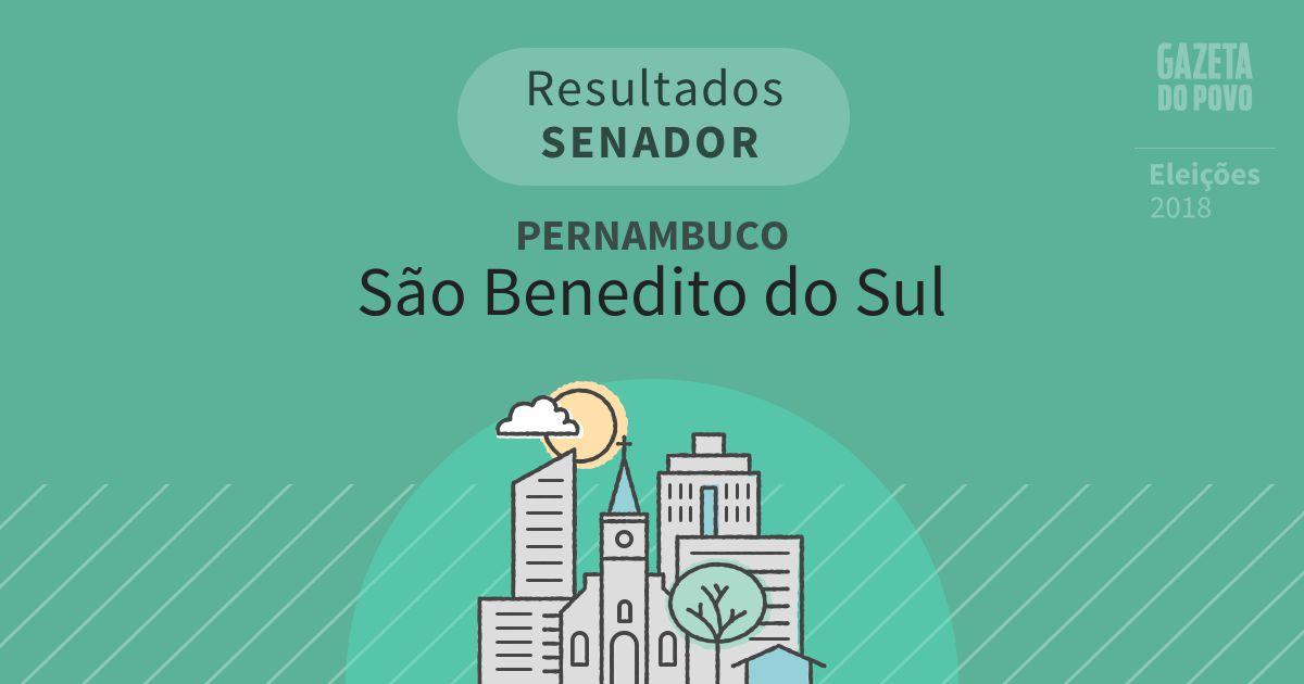 Resultados para Senador em Pernambuco em São Benedito do Sul (PE)