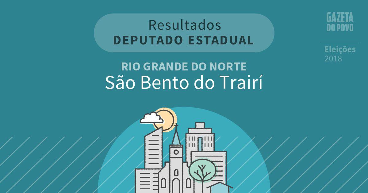 Resultados para Deputado Estadual no Rio Grande do Norte em São Bento do Trairí (RN)